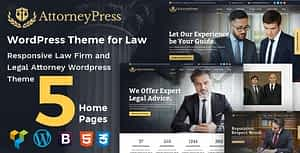 Attorney Press – Lawyer WordPress Theme