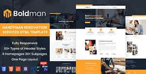 Boldman – Handyman Renovation Services HTML Template