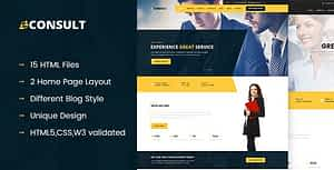 CONSULT – Consultant Business HTML Template
