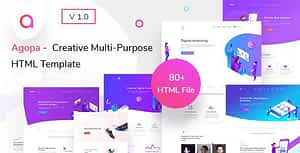 Agopa – Creative Multipurpose HTML Template