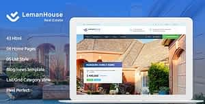 Lemanhouse – Real Estate HTML Template