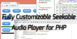 Seeakable Streamable PHP Audio Player for HTML5