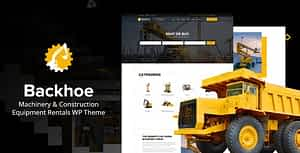 Backhoe – Heavy Equipment Rentals WordPress Theme