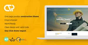 Consta – One Page Construction WordPress Theme