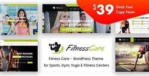 Fitness Care – Gym WordPress Theme