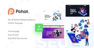 Pohat – SEO & Digital Marketing Agency HTML5 Template