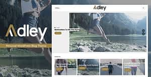 Adley – Personal WordPress Blog Theme