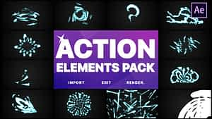 Action Elements | After Effects | After Effects Project