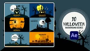 Halloween Background | After Effects | After Effects Project