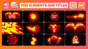 Flame Elements And Titles | After Effects Template | After Effects Project