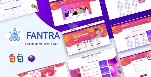 Fantra - Online Lotto & Lottery HTML Template Nulled