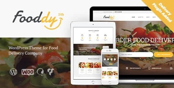 Fooddy 24/7 - Food Ordering & Delivery WordPress Theme + RTL Nulled