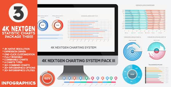 4K NextGen Resizable Statistics Charts & Infographics Pack T... Free Download