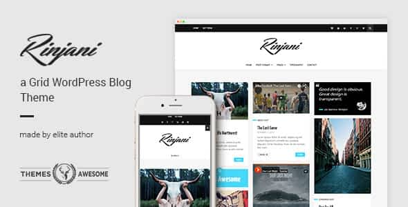 A Responsive Grid Blog Theme - Rinjani Nulled