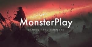 MonsterPlay – eSports and Gaming HTML Template