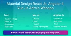 Material Design | Admin Web App and HTML Template