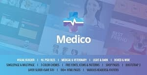 Medico – Medical & Veterinary HTML Template with Builder