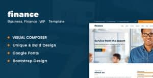 Consulting Business Finance WordPress Template
