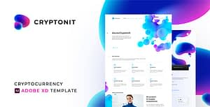 Cryptonit – Cryptocurrency Adobe XD Template