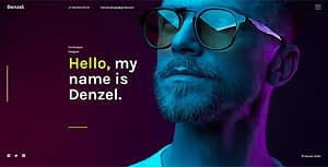 Denzel. – Onepage Personal HTML Template
