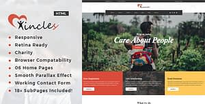 Incles – Responsive HTML Template for Charity & Fund Raising