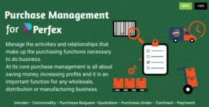 Purchase Management for Perfex CRM