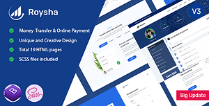 Roysha – Money Transfer and Online Payments HTML Template