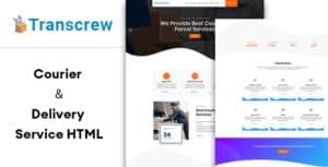 Transcrew   Courier & Delivery Service HTML Template