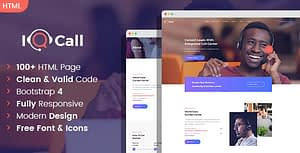 iQcall – Call center SinglePage and MultiPage HTML template