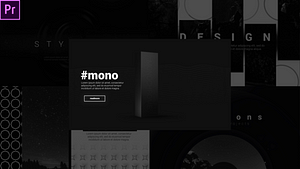 Creative Monochrome Typos After Effects Project