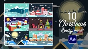 Christmas Backgrounds   After Effects   After Effects Project