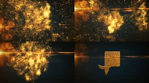Glowing Particle Logo Reveal 14 : Golden Particles 03 After Effects Project