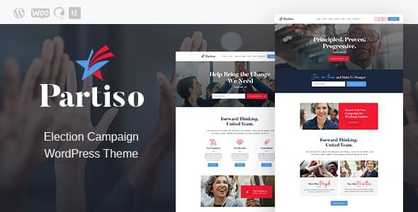 Partiso | Political WordPress Theme for Party & Candidate Nulled
