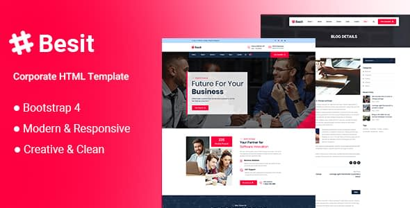 Besit - Corporate HTML Template Nulled