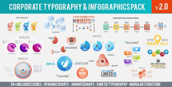 Corporate Typography & Infographics Pack Free Download