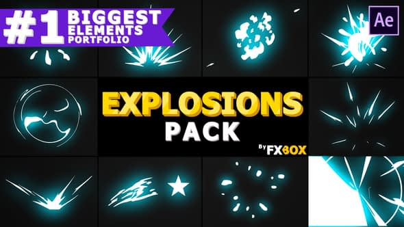 Cartoon Explosion Elements | After Effects Free Download