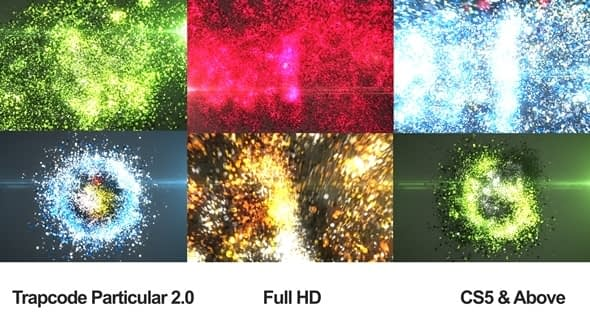 Glowing Particles Logo Reveal 4 Free Download