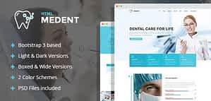 Medent – dental clinic HTML template with Builder