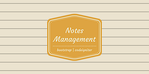 Personal Notes Management System