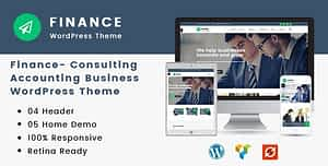 Finance – Consulting, Accounting WordPress Theme