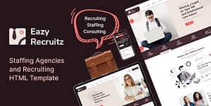Easy Recruitz – Staffing Agencies and Job Seekers HTML Template