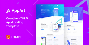 AppArt – Creative HTML Template For Apps