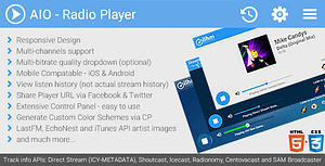 AIO Radio Station Player – Shoutcast, Icecast and more