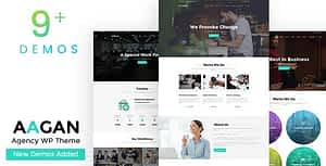 Aagan – Agency, Startup WordPress Theme