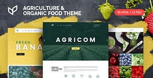 Agricom – Agriculture & Organic Food HTML Template Pack