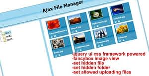 Download Free Ajax File Manager – PHP Script