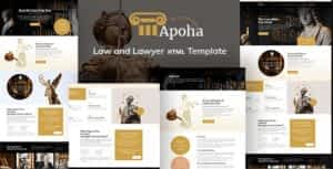 Apoha – Law and Lawyer HTML Template