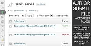 Author Submit File – WordPress Submission Plugin