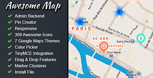 Awesome Map – Customizable Map Markers