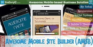 Awesome Mobile Site Builder (AMSB) – PRO